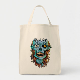 skull dark elf with no brain tote bag