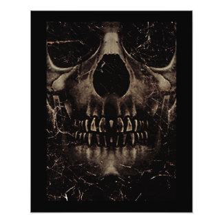 Skull Dark Poster Photographic Print