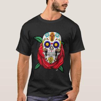 Skull Day Of  The Dead  Dia De Los Muertos T-Shirt