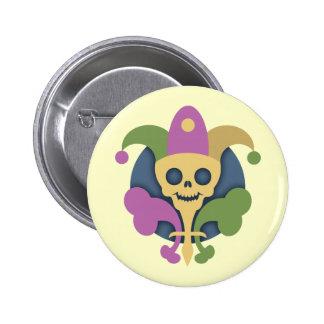 skull-de-lis-T Pinback Buttons
