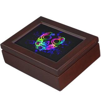 Skull design keepsake box