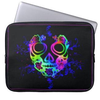 Skull design laptop sleeve