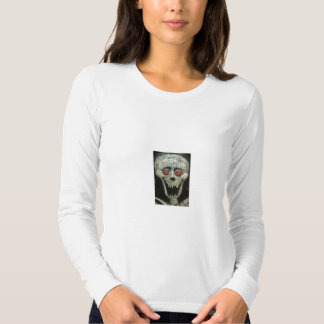 Skull Design Long Sleeve Fitted T-Shirt