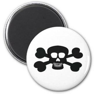 Skull Design Merchandise 6 Cm Round Magnet