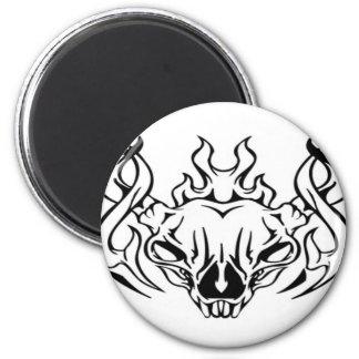 Skull Design Merchandise Refrigerator Magnet