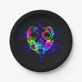 Skull design paper plate
