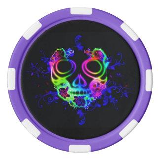 Skull design poker chips