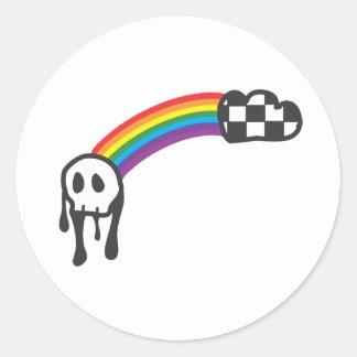 Skull Design Round Sticker