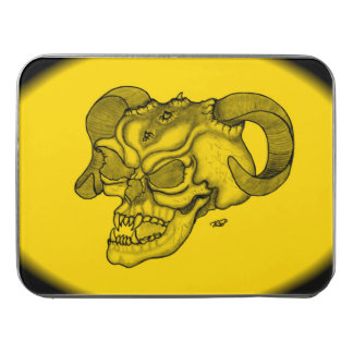 Skull Devil Head Black and Yellow Design Jigsaw Puzzle