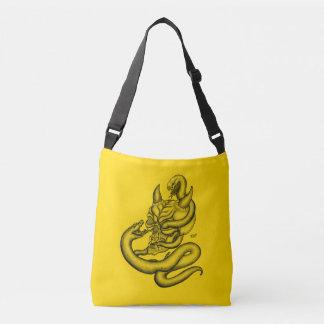 Skull - Devil Head with Snake Crossbody Bag