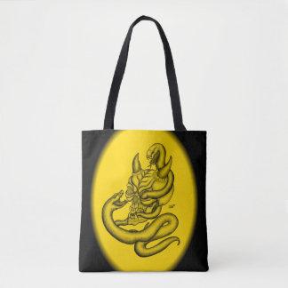 Skull - Devil Head with Snake Tote Bag