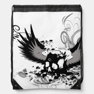 Skull Drawstring Bag