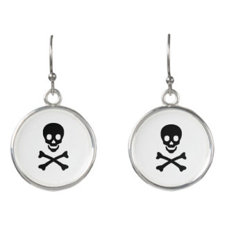 """Skull"" Drop Earrings"