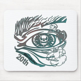 Skull Eye 20th Birthday Gifts Mouse Pad