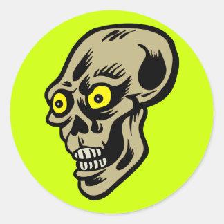 skull eyes classic round sticker