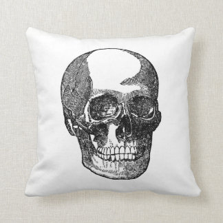 Skull Face Antique Inspired Halloween Cushion