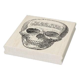 Skull face illustration art stamp