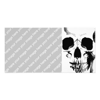 Skull Face Photo Card