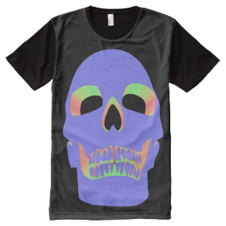 Skull Face – Purple Pastel All-Over Print T-Shirt