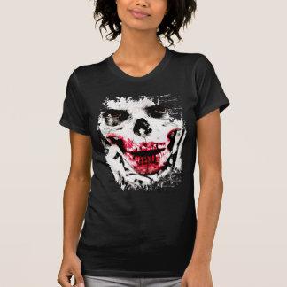 Skull Face Zombie Man Creepy Horror T-Shirt