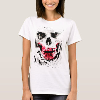 Skull Face Zombie Man Creepy Horror T-Shirt