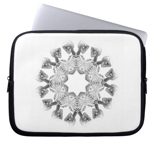 Skull Fade laptop computer electronics sleeve Computer Sleeves