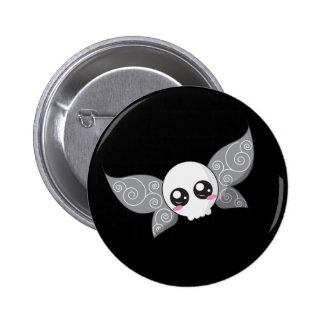 Skull Fairy - Grey 6 Cm Round Badge