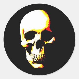 Skull Fantasy Art Rocker Round Sticker