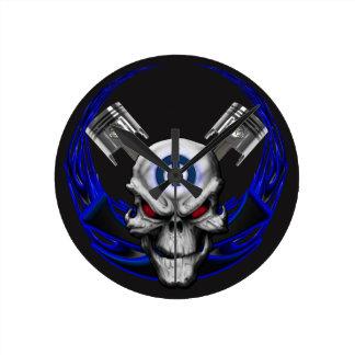 Skull & Flames Clock