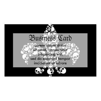 Skull Fleur De Lis Business Card