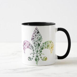 Skull Fleur De Lis Mug