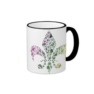 Skull Fleur De Lis Coffee Mug