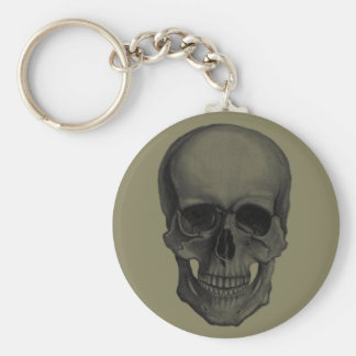 Skull For Horror Fans and Goths Basic Round Button Key Ring