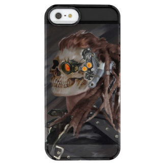 skull girl clear iPhone SE/5/5s case