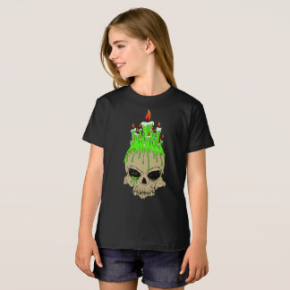 Skull Girls' American Apparel Organic T-Shirt