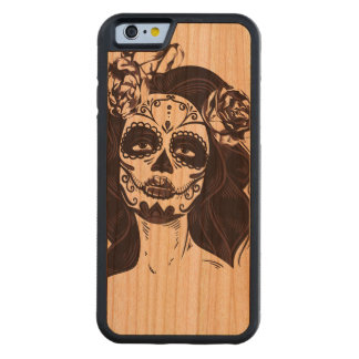 Skull Gothic Carved Cherry iPhone 6 Bumper Case
