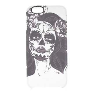Skull Gothic Clear iPhone 6/6S Case