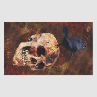 Skull & Gothic Crow Fantasy Art Stickers