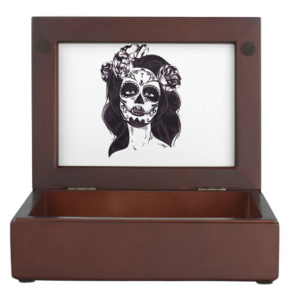 Skull Gothic Keepsake Box