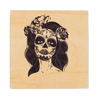 Skull Gothic Wood Coaster