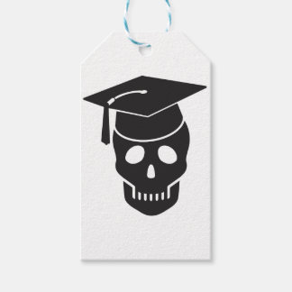 skull graduated from school gift tags