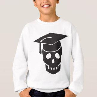 skull graduated from school sweatshirt