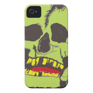 Skull Green and Black Blackberry Bold Case