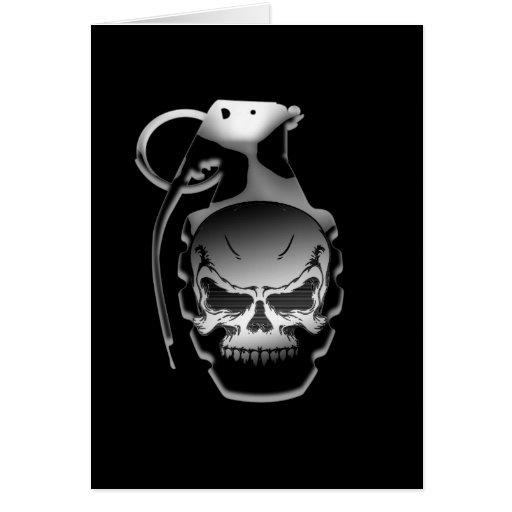 Skull Grenade Greeting Card