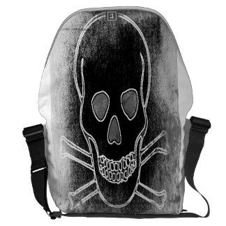 skull Grey Messenger Bag
