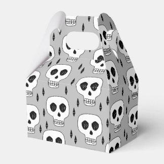Skull Grey October Halloween / Andrea Lauren Favour Boxes
