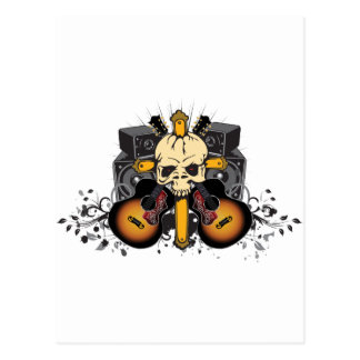 Skull Guitars Speakers Postcard