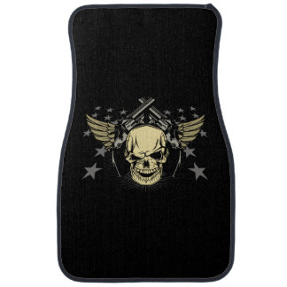 Skull Guns Wings Stars Auto Floor Mats