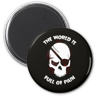 Skull Halloween Dark Black Scary 6 Cm Round Magnet