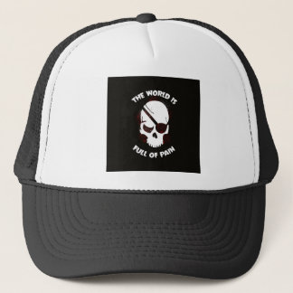 Skull Halloween Dark Black Scary Trucker Hat